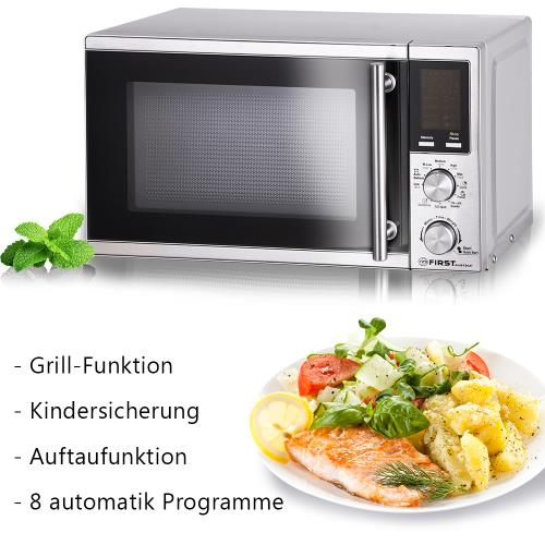 20 liter mikrowelle mit grill und pizza programm 1200 watt. Black Bedroom Furniture Sets. Home Design Ideas
