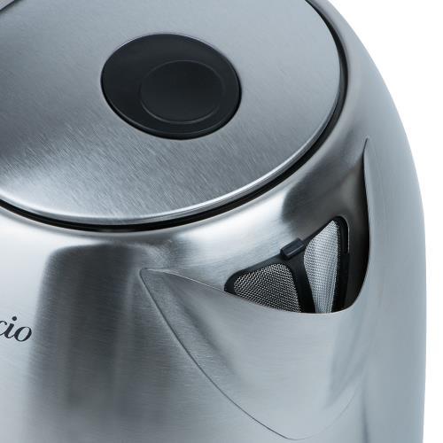 1,7 Liter Edelstahl Wasserkocher mit Temperaturwahl und  ~ Wasserkocher Mit Temperaturwahl