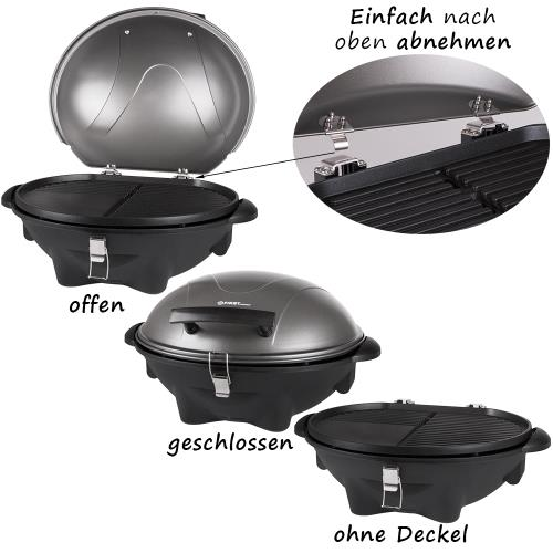 elektrischer standgrill mit deckel ablagefl che kugelgrill tisch grill elektro ebay. Black Bedroom Furniture Sets. Home Design Ideas