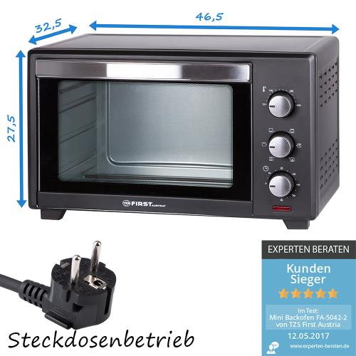 19 l mini backofen mit kr melblech 1380 watt pizzaofen innenlicht umluft ebay. Black Bedroom Furniture Sets. Home Design Ideas